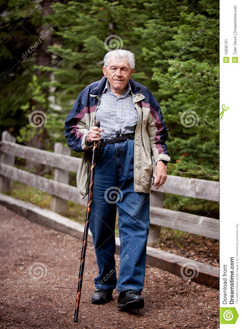 elderly man walking -#main