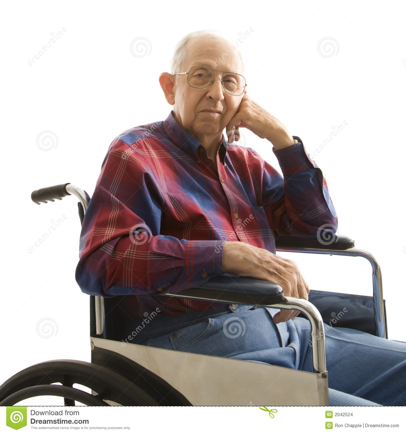 Elderly Man In Wheelchair Stock Images Image 2042524