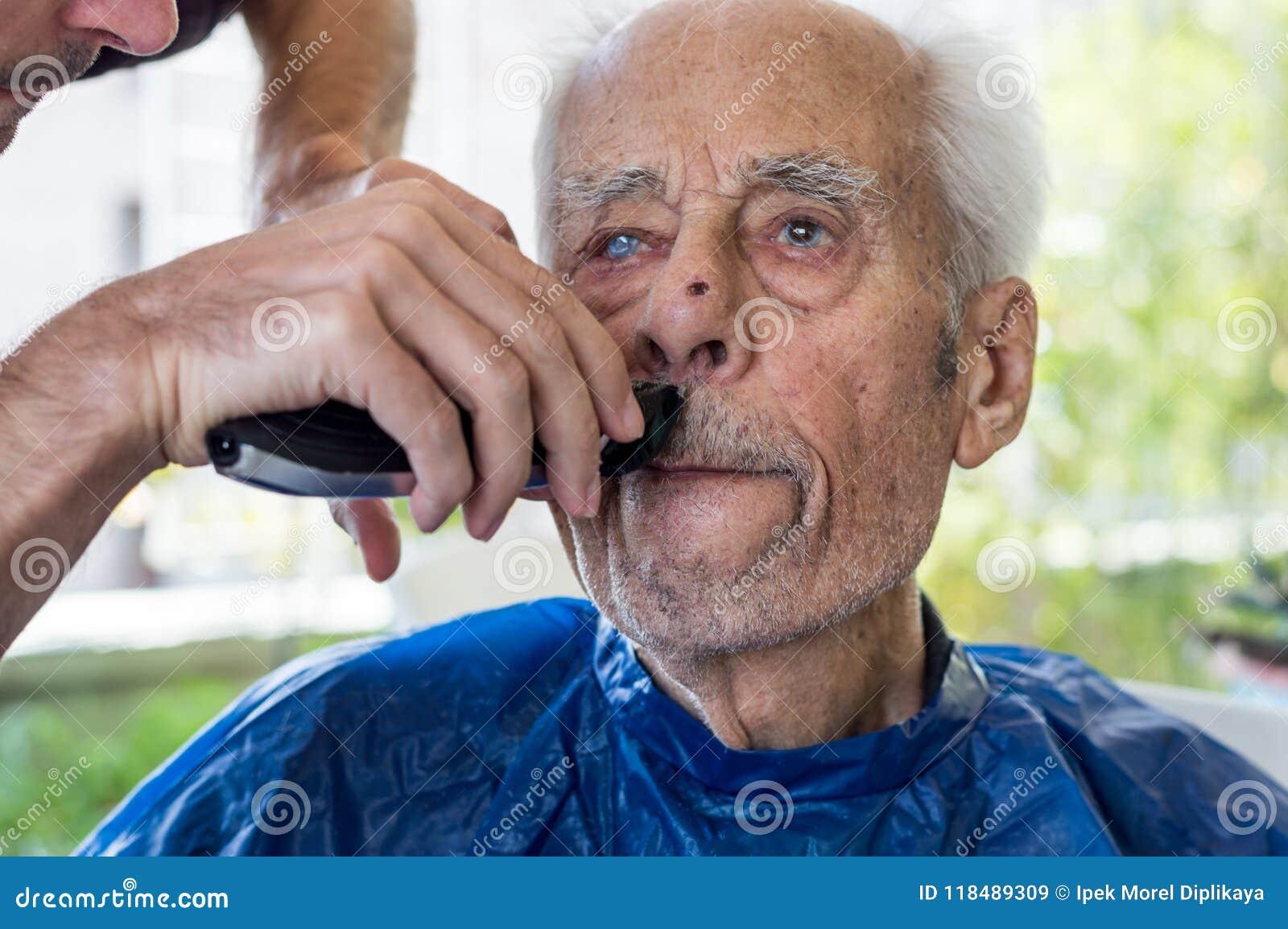 shaved old men
