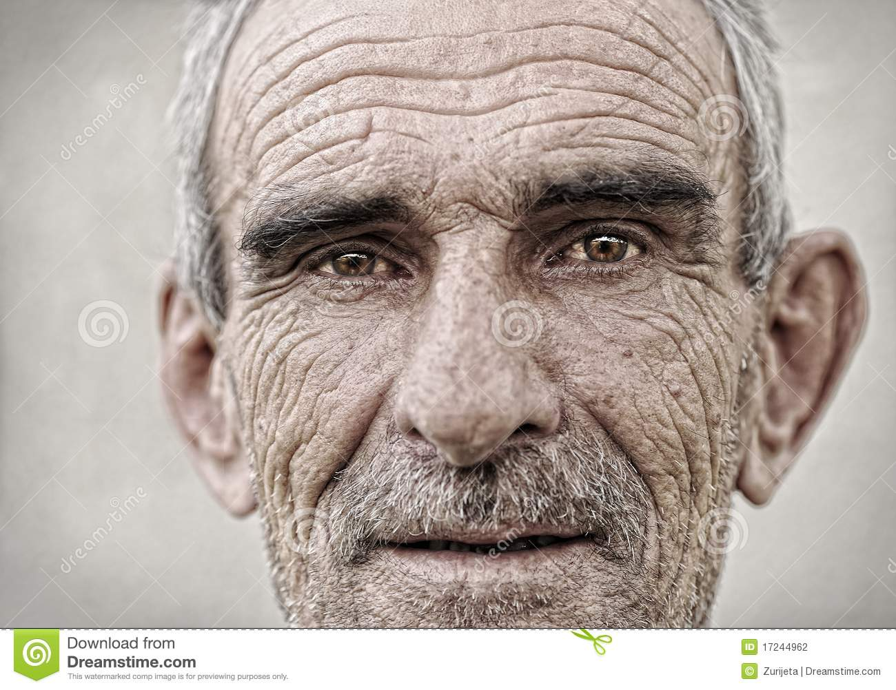Elderly, old, mature man portrait