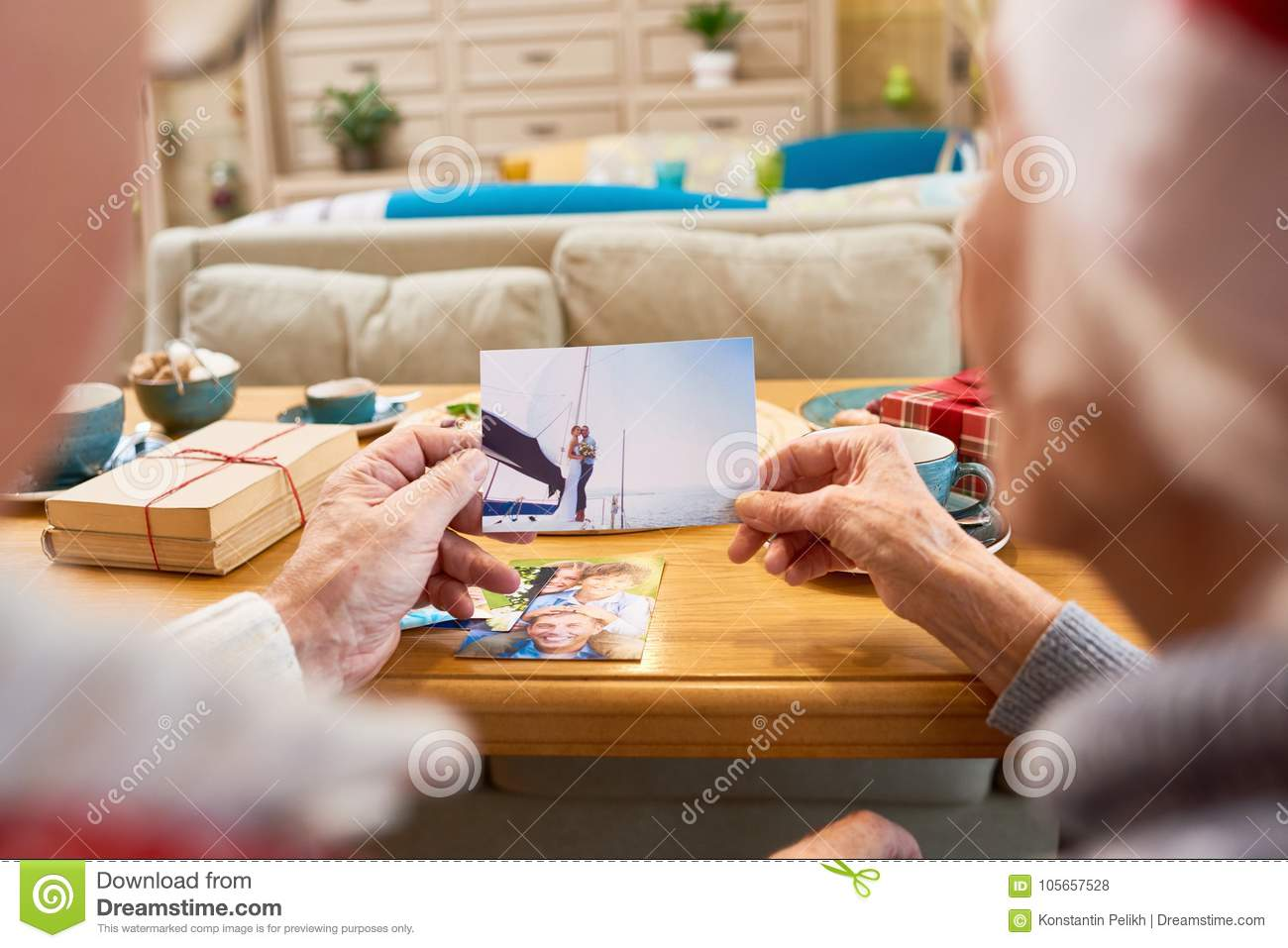 Elderly People Looking at Photos