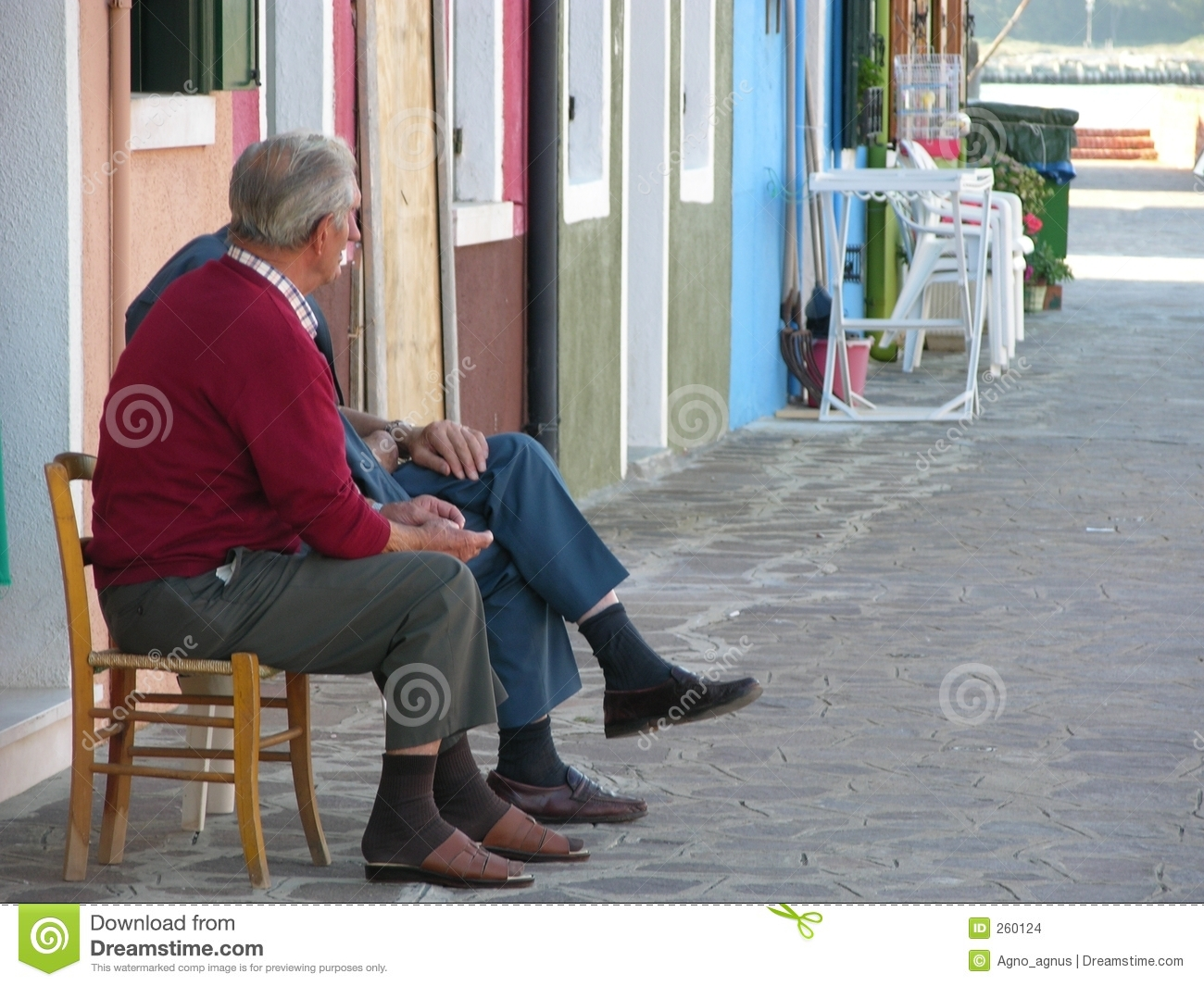 Elderly People Talking Stock Images Image 260124