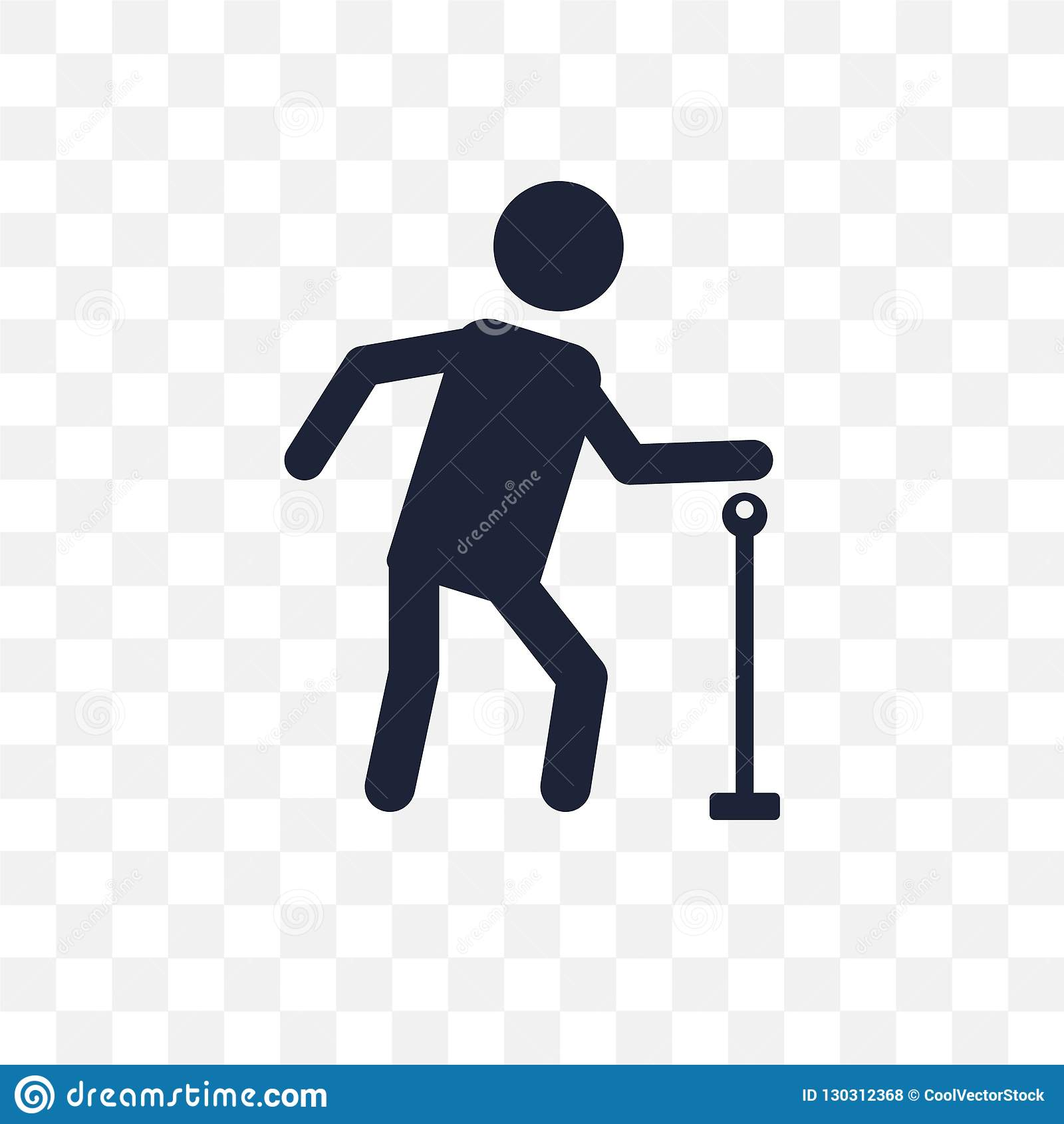 Elderly transparent icon. Elderly symbol design from Insurance c