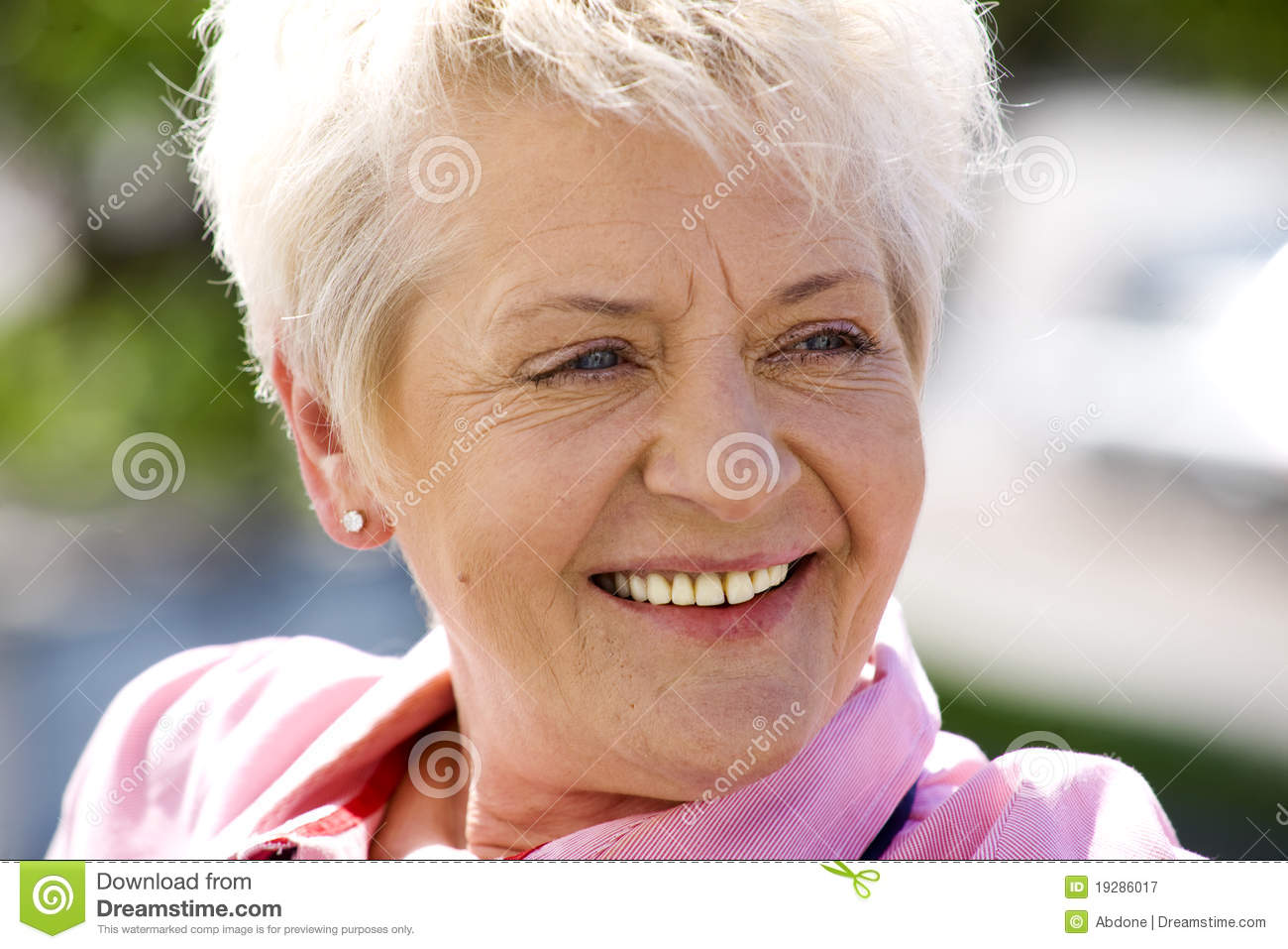 Elderly Woman Outside Royalty Free Stock Photography - Image: 19286017