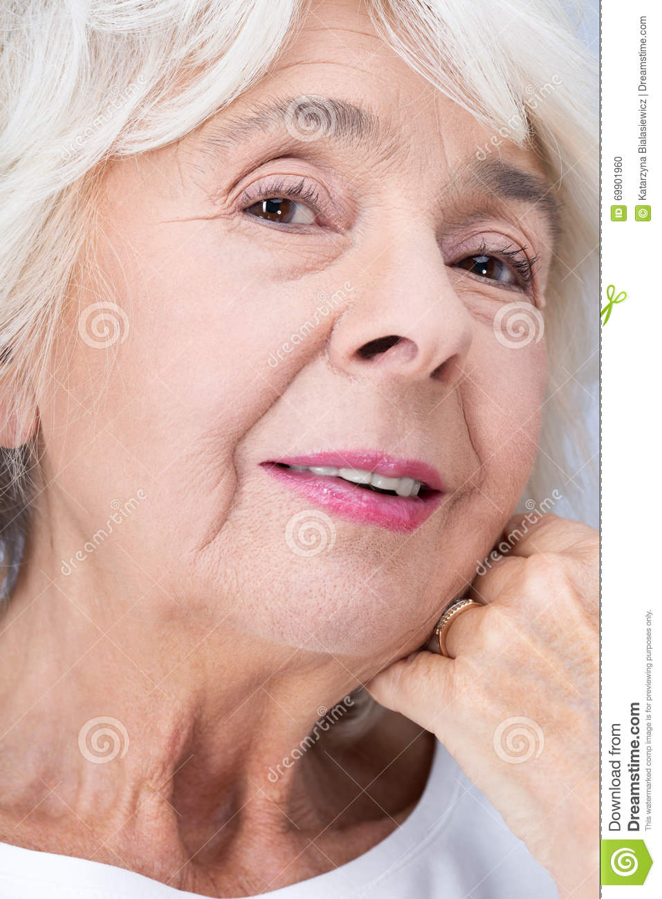 Elderly Woman And Perfect Look Stock Photo Image 69901960