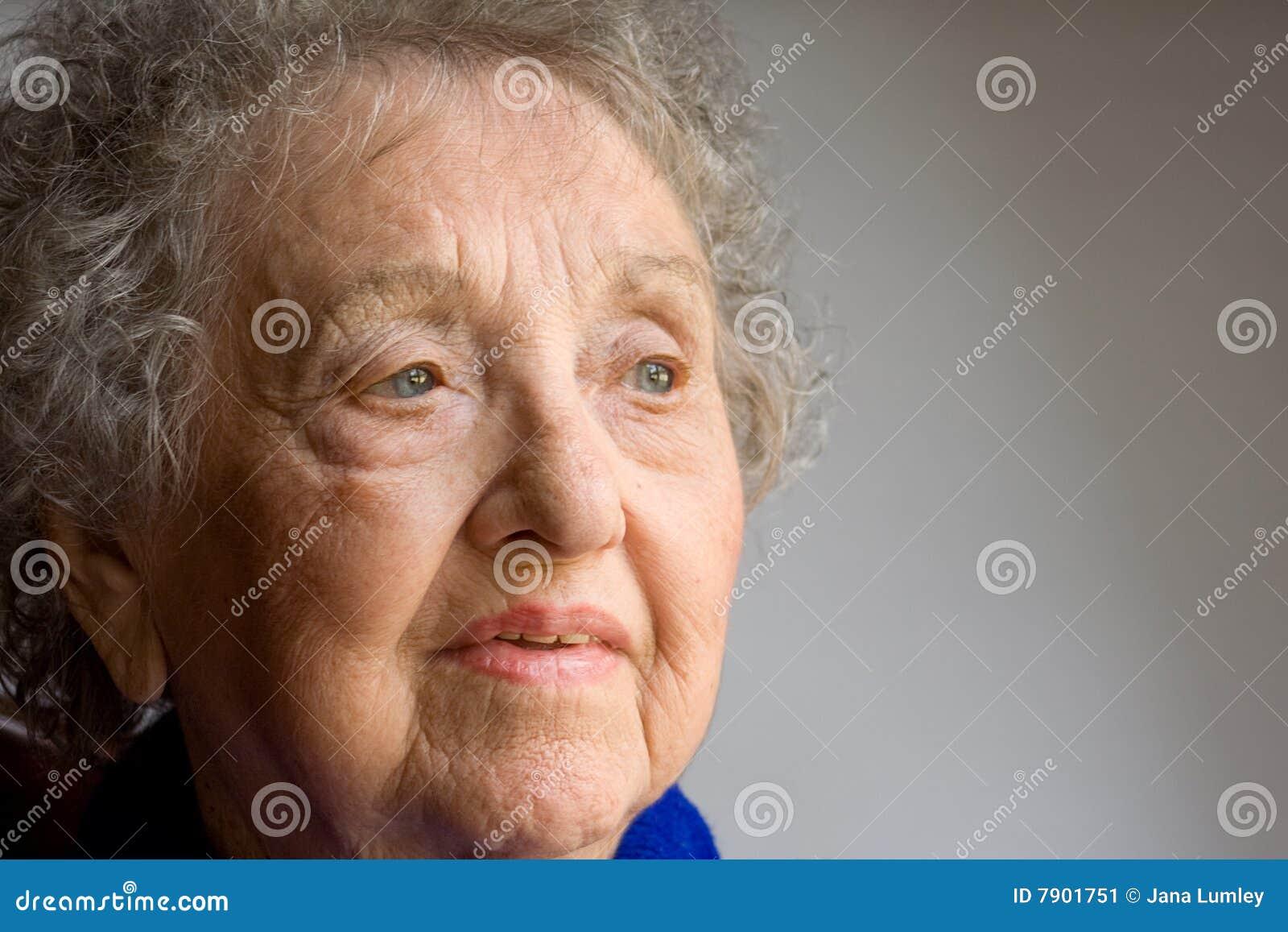 Elderly Woman Portrait Stock Image - Image: 7901751