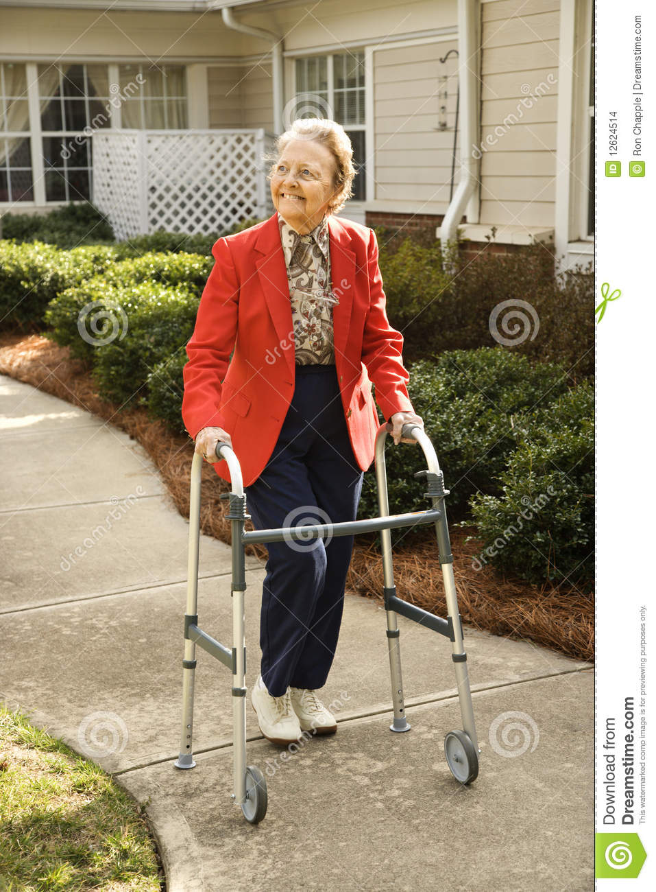 Old Woman With Walker