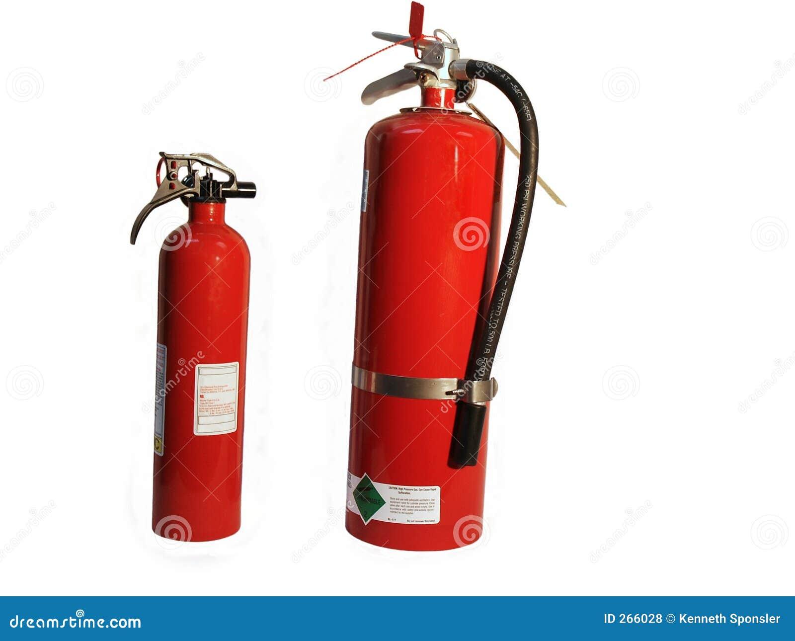 Eldsläckare aktiverar två