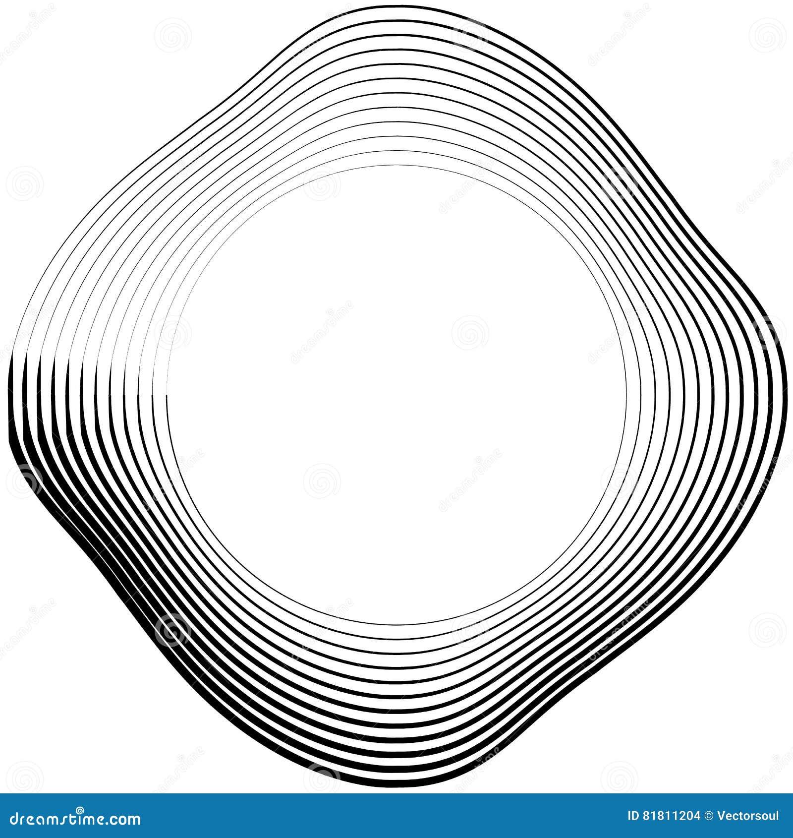 Ele скачками/несимметричный излучать круговое абстрактное геометрическое