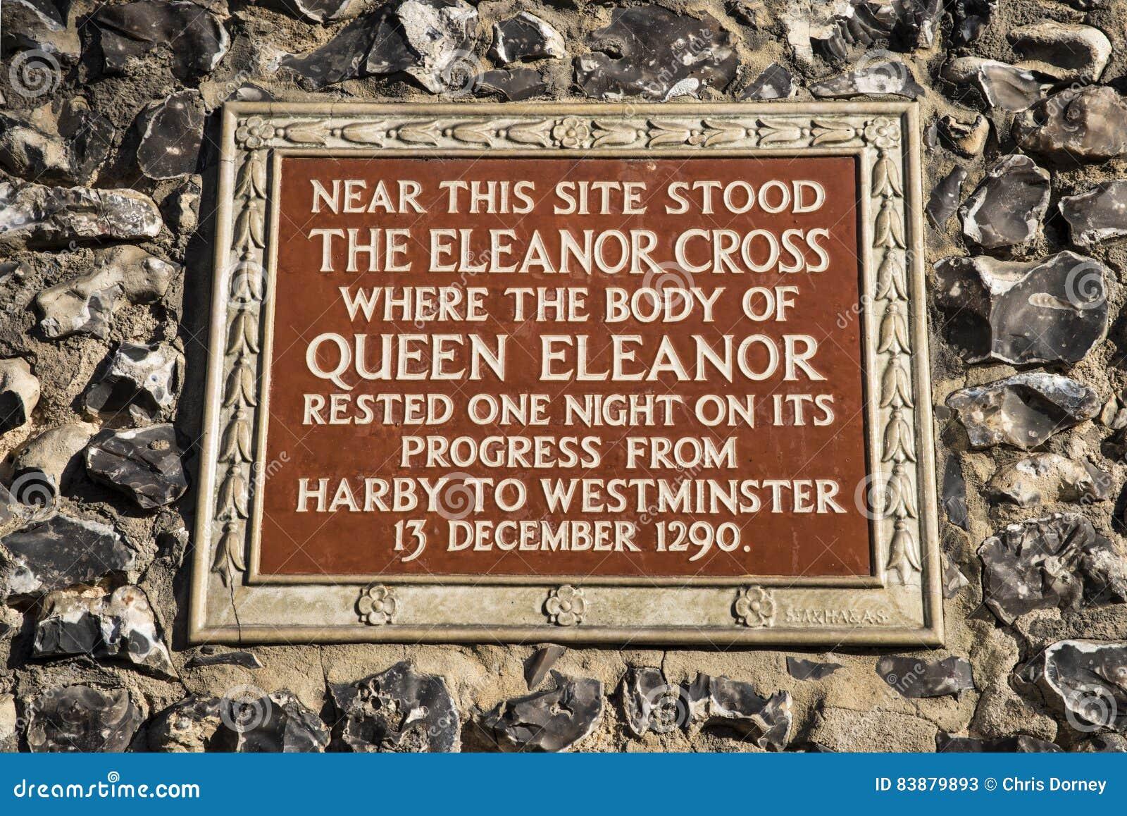 Eleanor Cross Plaque in St Albans