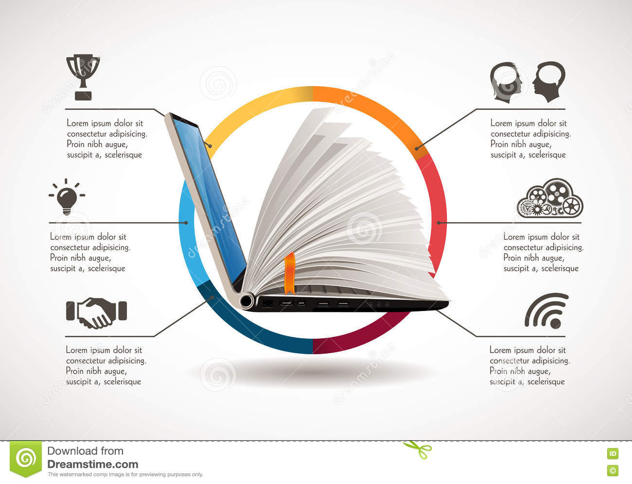 Elearning concept - online learning system
