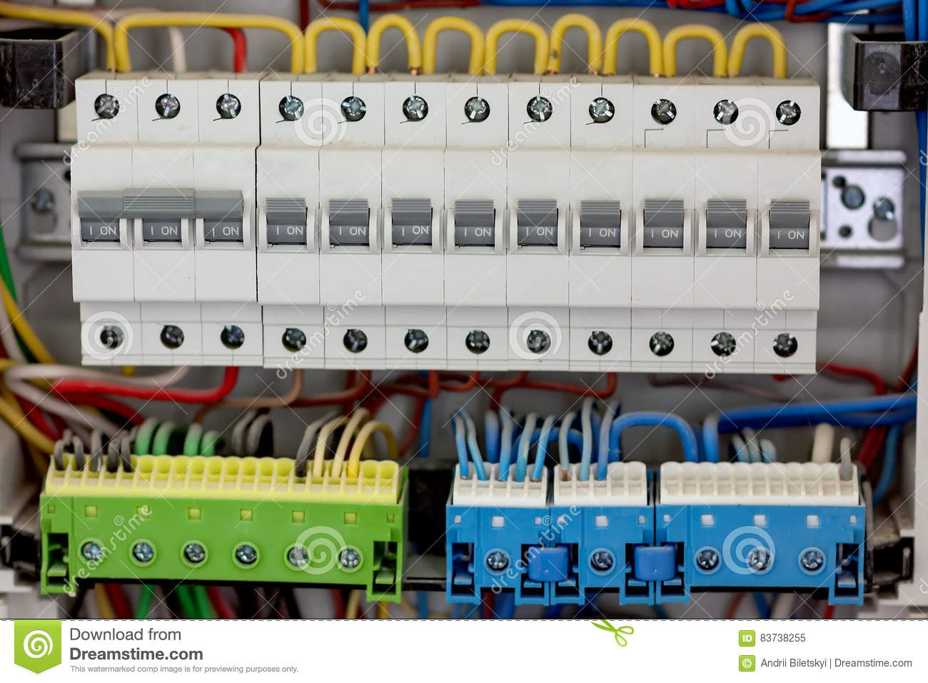 Electical Distribution Fuseboard Electrical Supplies Home Wiring Box Panel At A Assembly Line Factory Controls