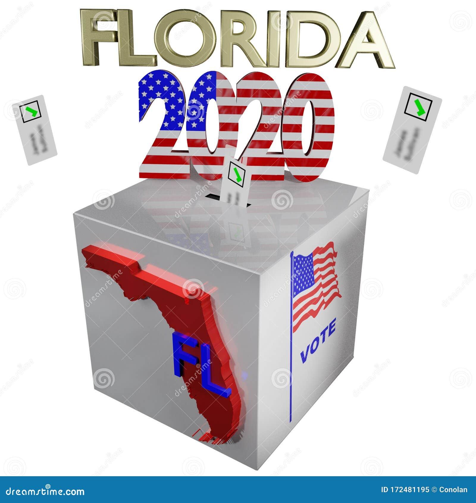 Election 2020 Florida Box 3D Illustration Stock Illustration - Illustration of bloomberg, republican: 172481195