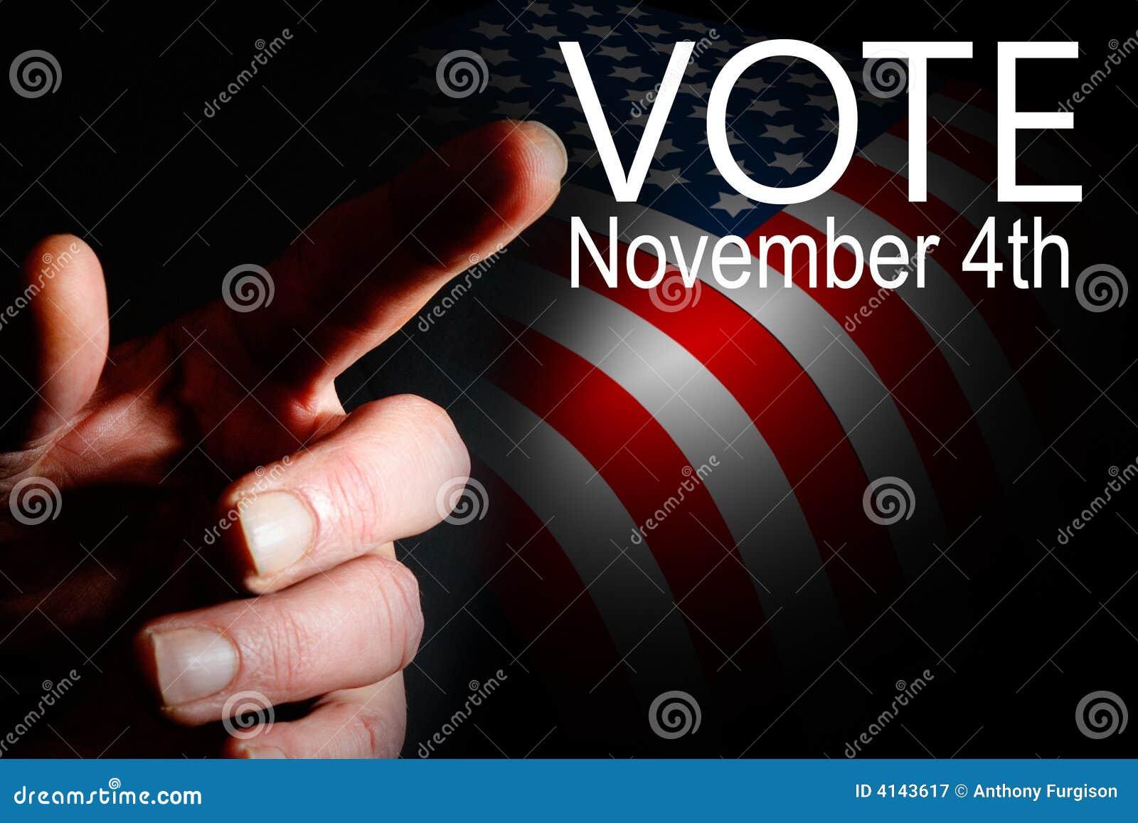 Election day campaign vote