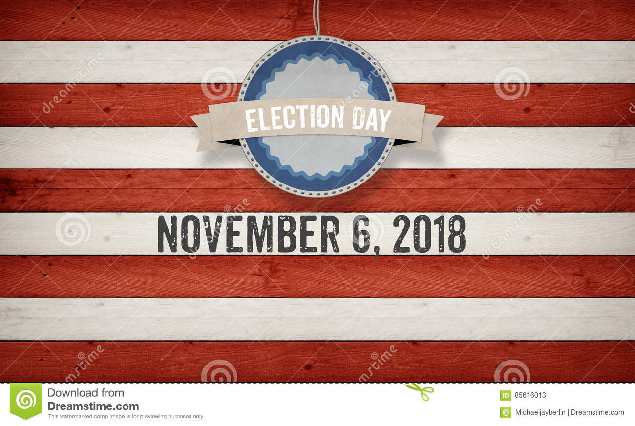 Election Day 2018, US American Flag Concept Background ...