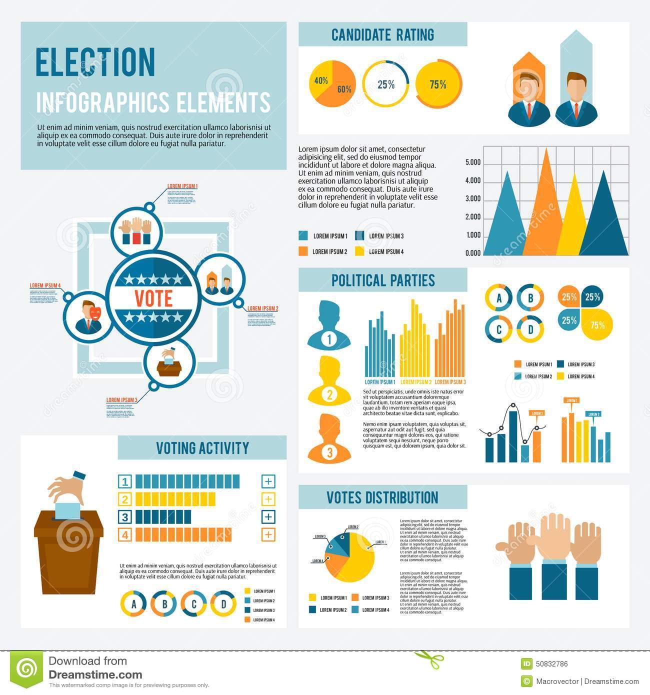 Election Icon Infographic Stock Vector Image 50832786