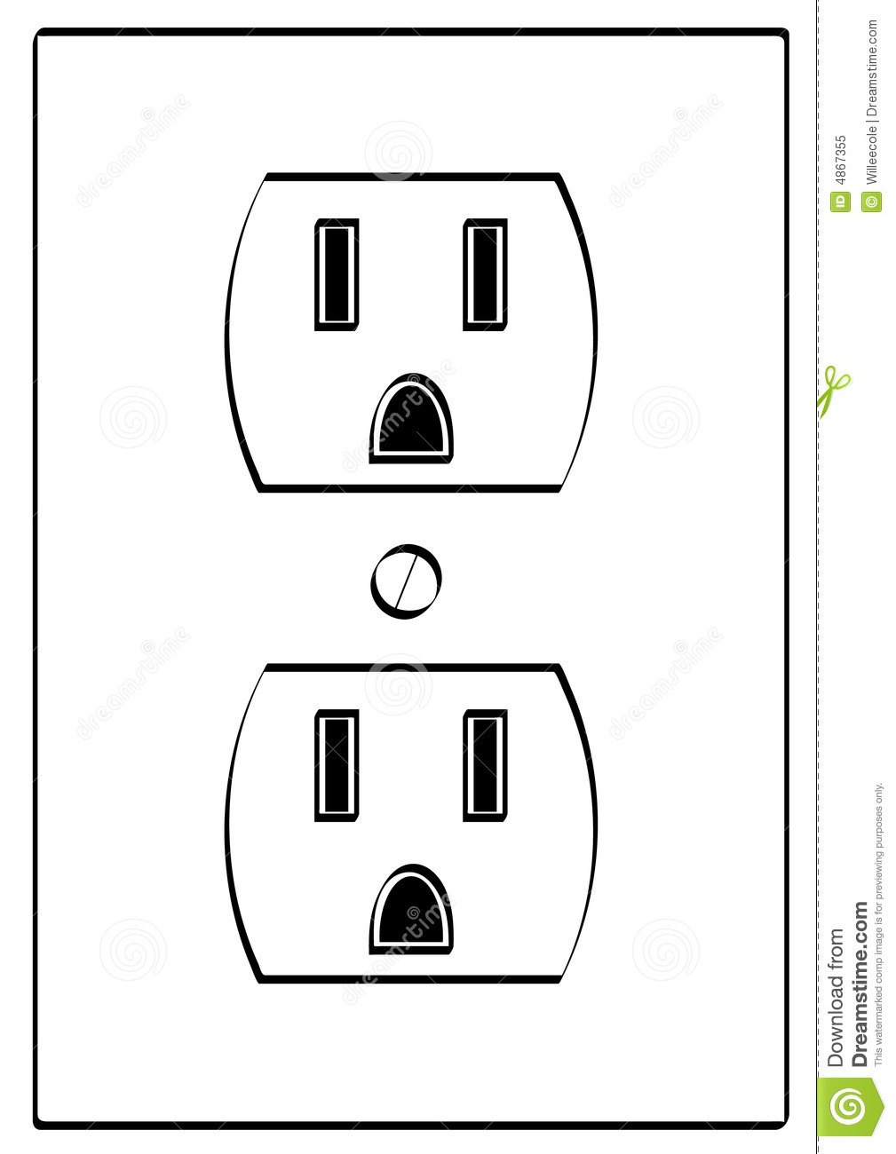 Electiral Outlet Royalty Free Stock Photo Image 4867355