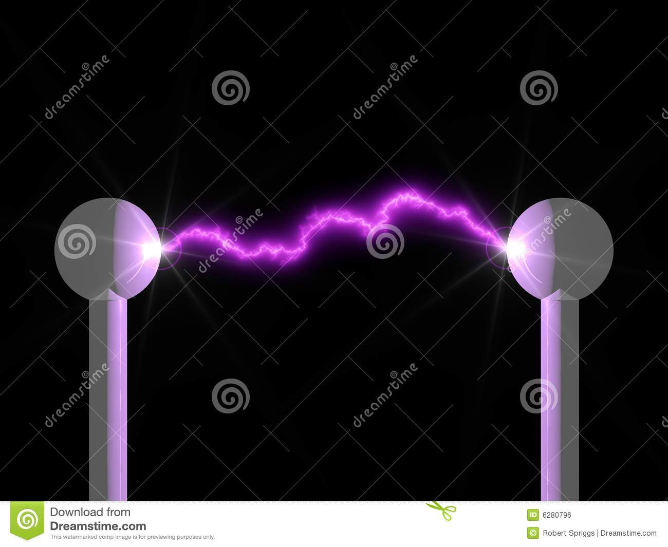 Electric Arc stock illustration. Illustration of lamp ...