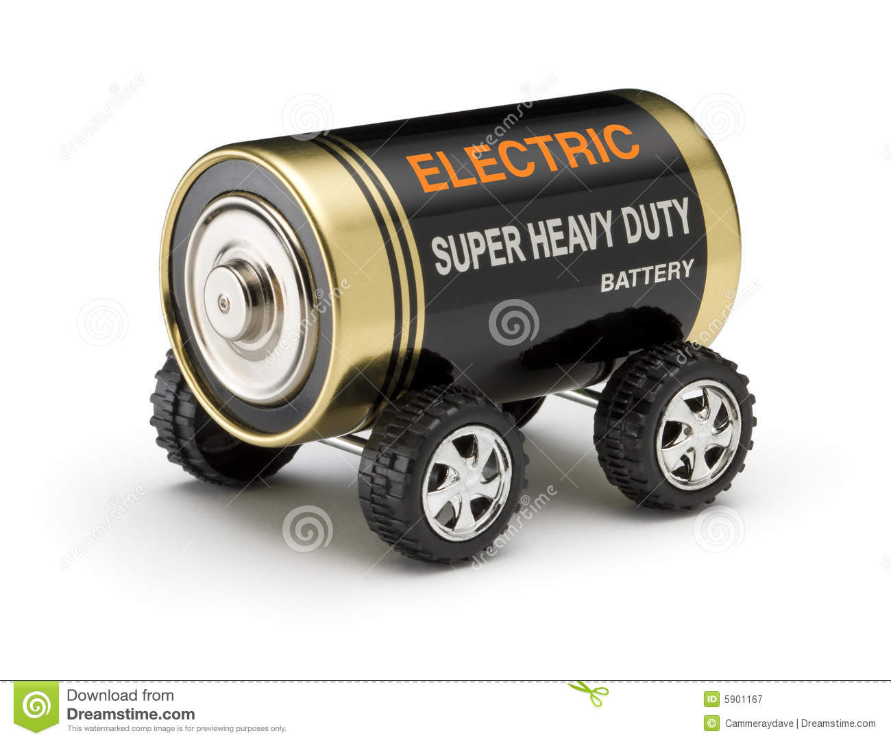 Electric Battery Car Royalty Free Stock Photography - Image: 5901167