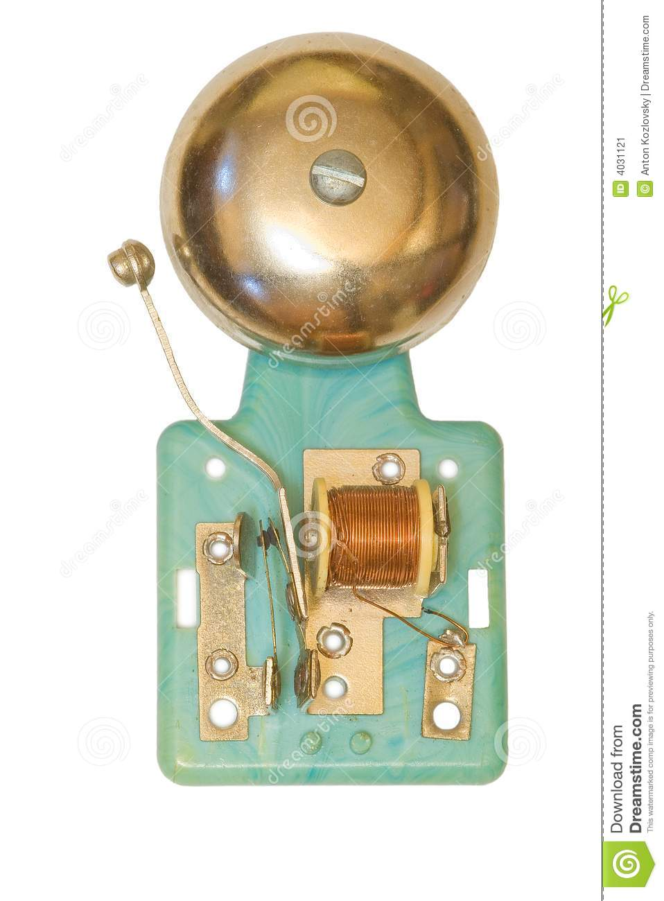 Electric Bell Stock Image Image 4031121