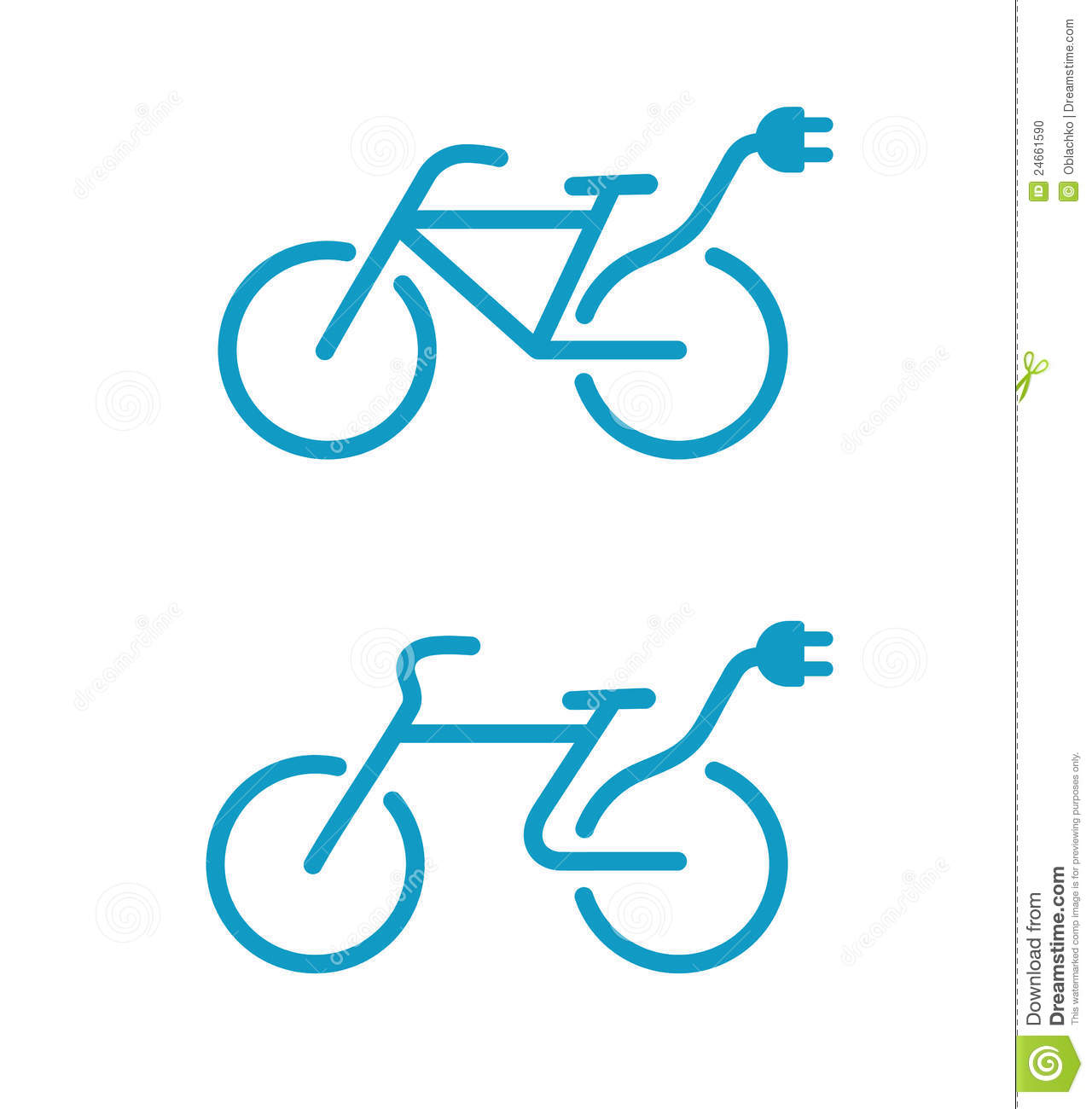 Electric Bicycle Icons Stock Photo - Image: 24661590