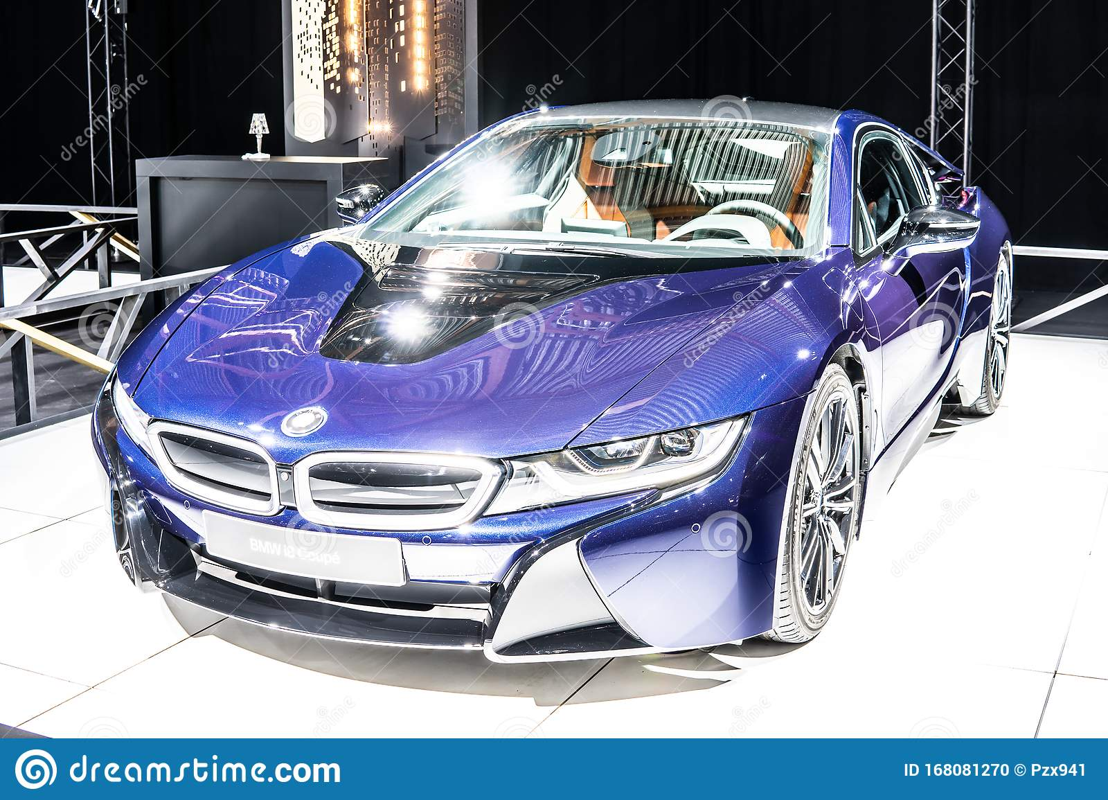 Electric Bmw I8 Coupe At Brussels Motor Show Eco Friendly Car Manufactured And Marketed By Bmw Editorial Image Image Of Engine Autoshow 168081270