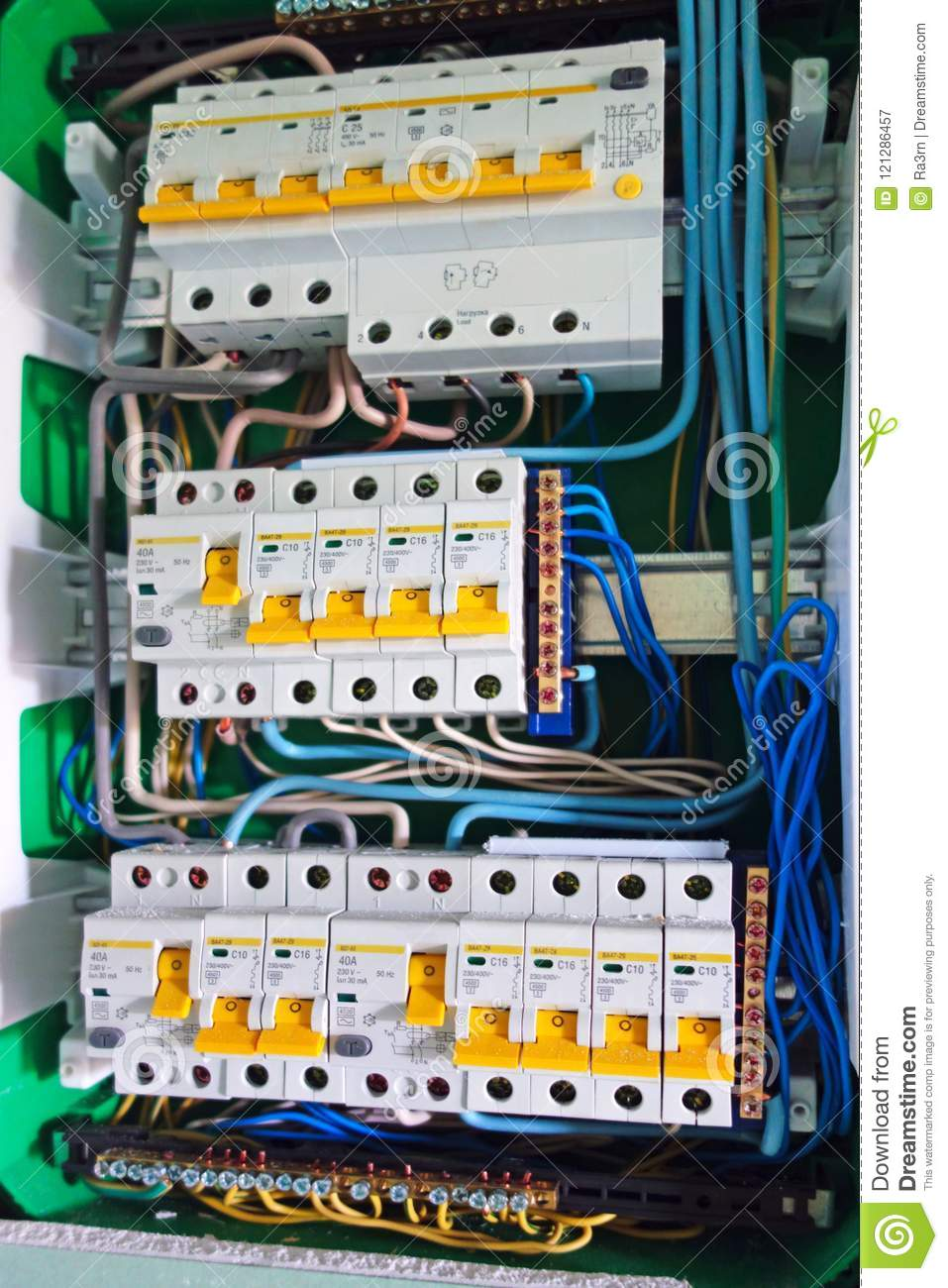 Electric Board With Circuit Breakers Stock Image Of Cooker