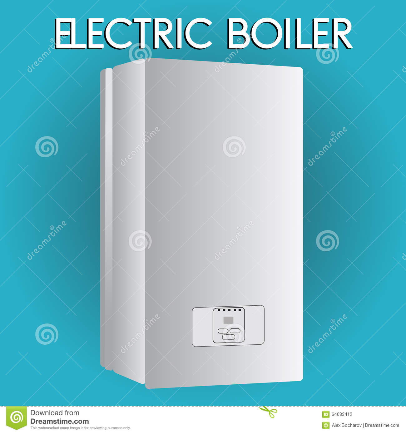Electric Boiler. House Heating. Stock Vector - Illustration of ...