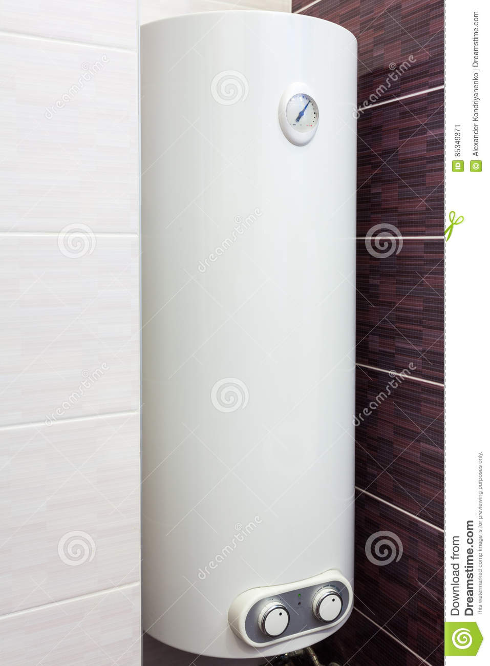 Bathroom Electric Heaters Electric Boiler Wall Water Heater In Bathroom Stock Photo Image