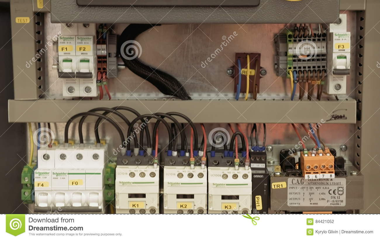 Electric Box With Emergency Stop Red Button Stock Footage Video Of Safe Fuse Circuit 84421052
