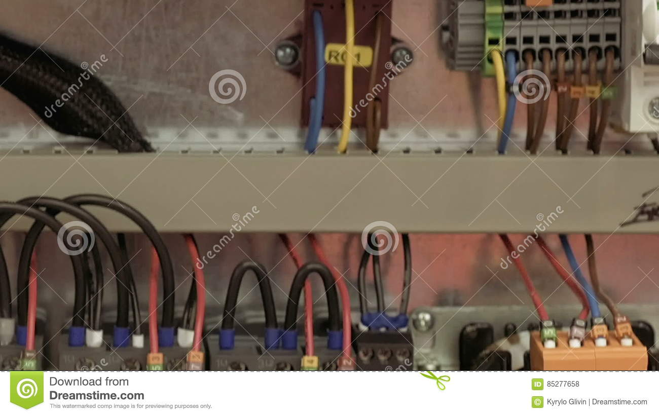Electric Box With Emergency Stop Red Button Stock Footage Video Of Electrical Conduit For Safe Wiring Explained By An Switch Automation 85277658