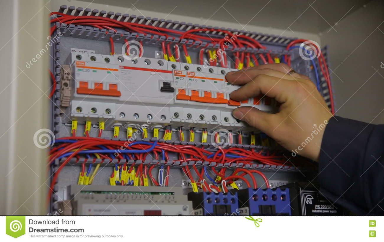 How to reset old fuse box old with blue buttons stock photo com