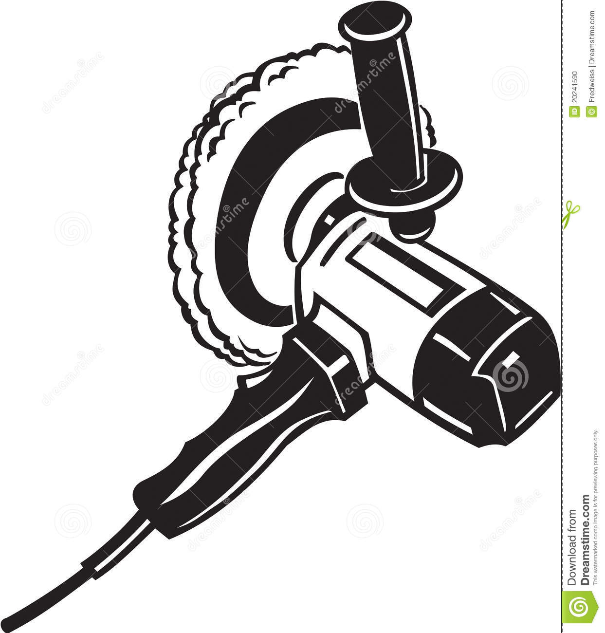 Electric buffer tool stock vector illustration of for Logo drawing tool