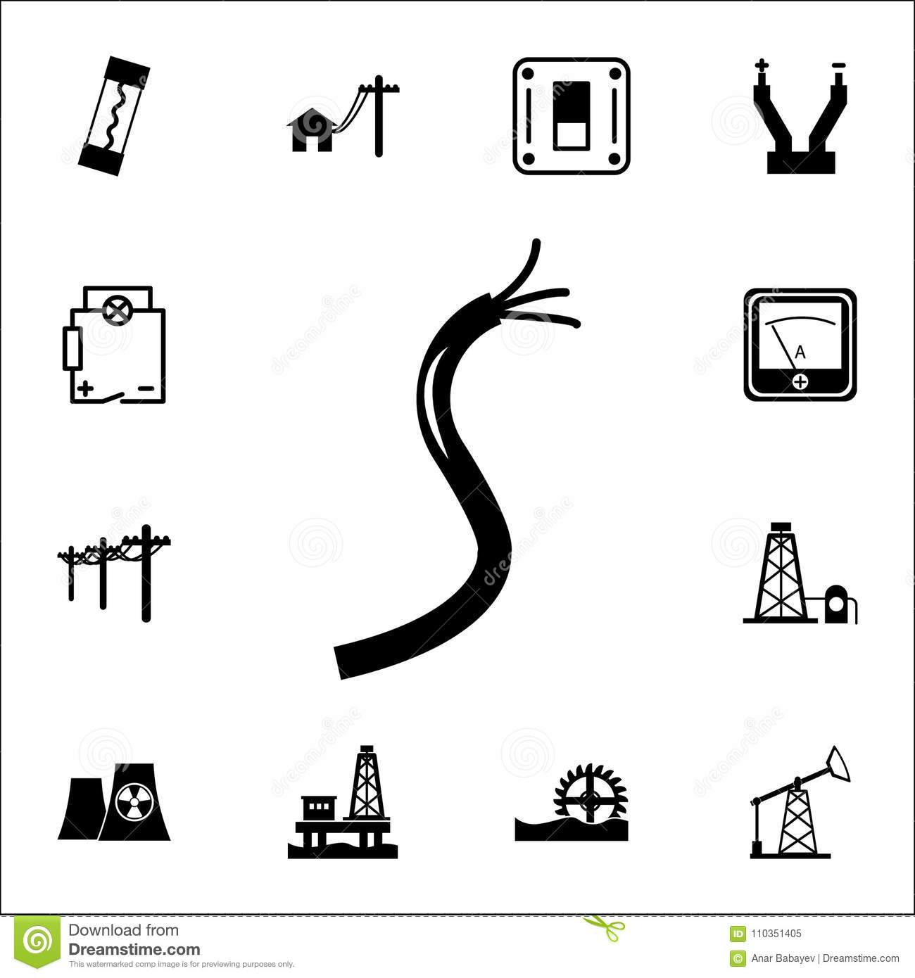 Electric Cable Icon Set Of Energy Icons Premium Quality Graphic
