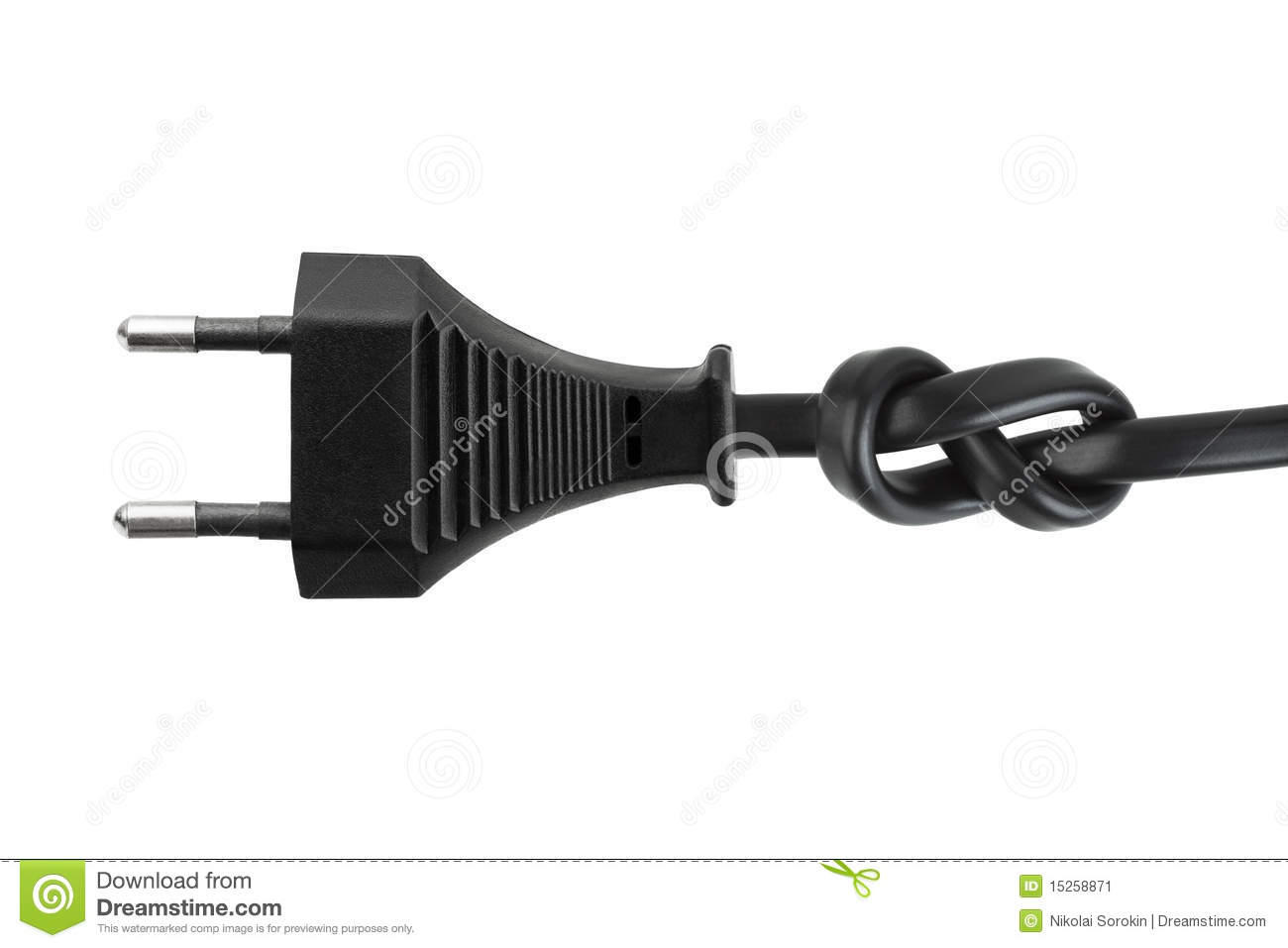 electric cable with knot stock image image of isolated 15258871. Black Bedroom Furniture Sets. Home Design Ideas