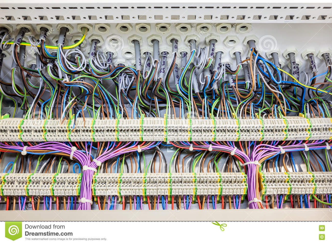 Electric Cables With Tar Stock Image Of 74116773 Cable Main Fuse Box