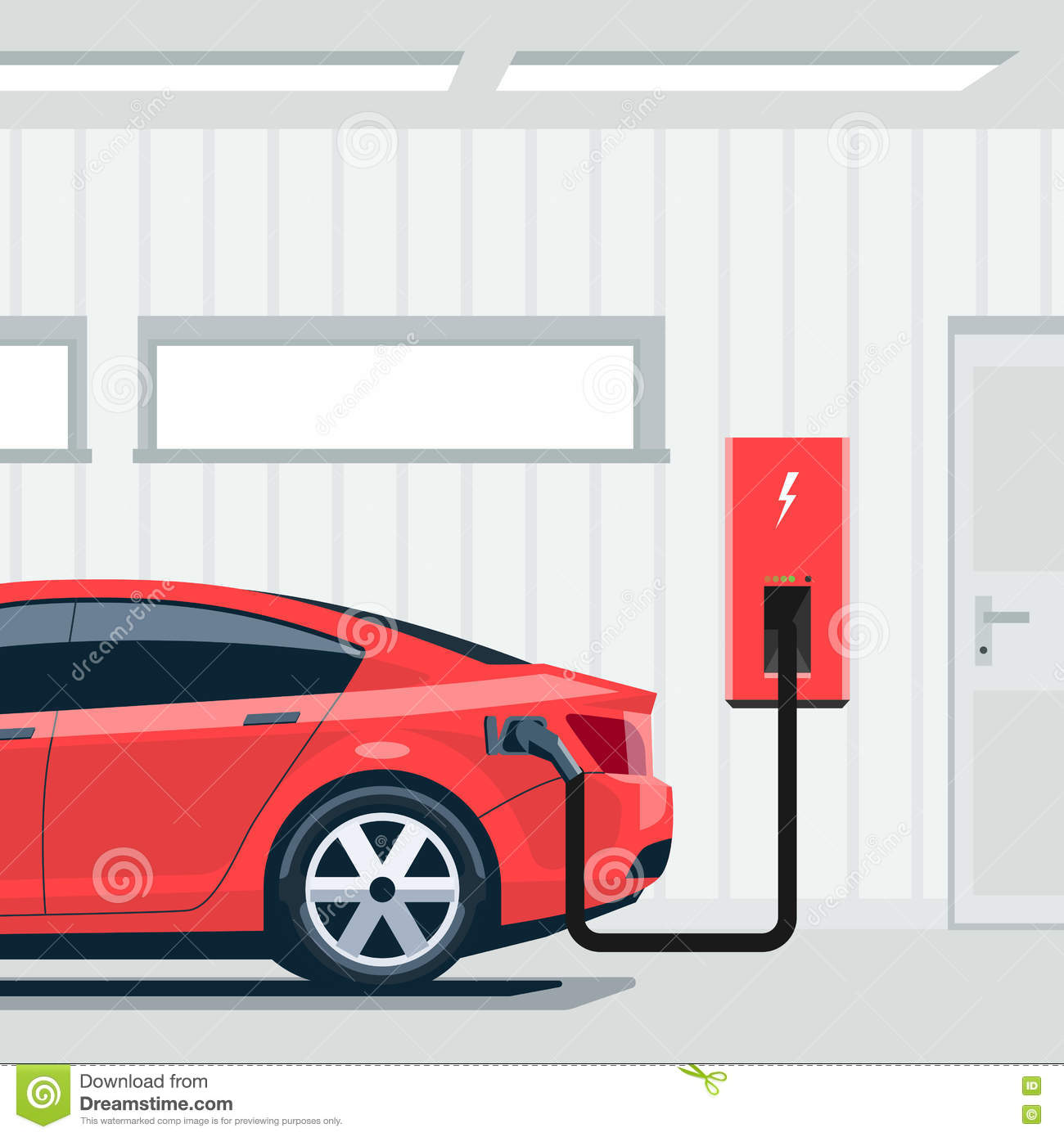 Electric Car Charging Station Conept