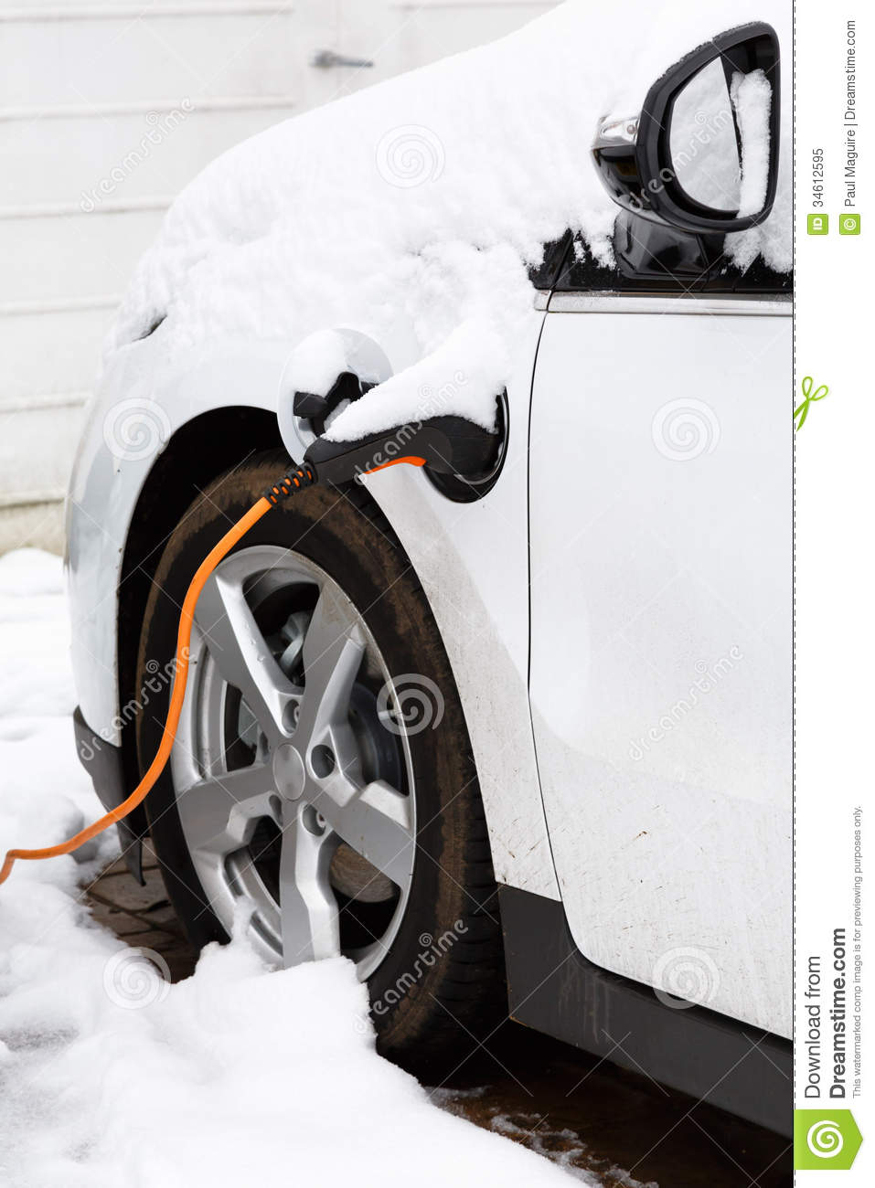 Electric Car Charging Royalty Free Stock Photo Image