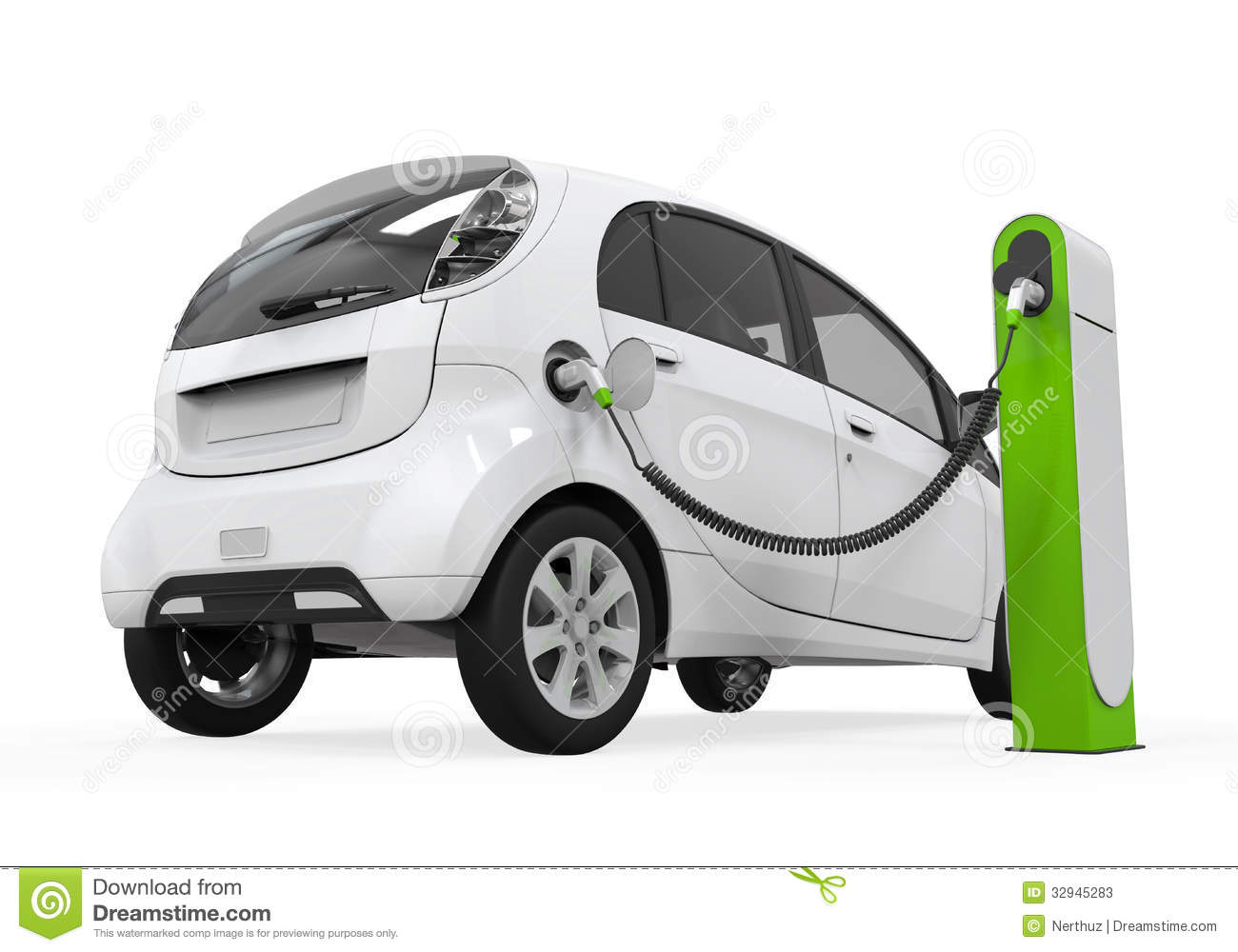 royaltyfree stock photo download electric car in charging