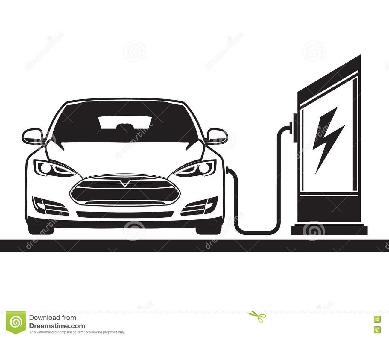 Electric car and filling station stock photo image of economy royalty free stock photo biocorpaavc