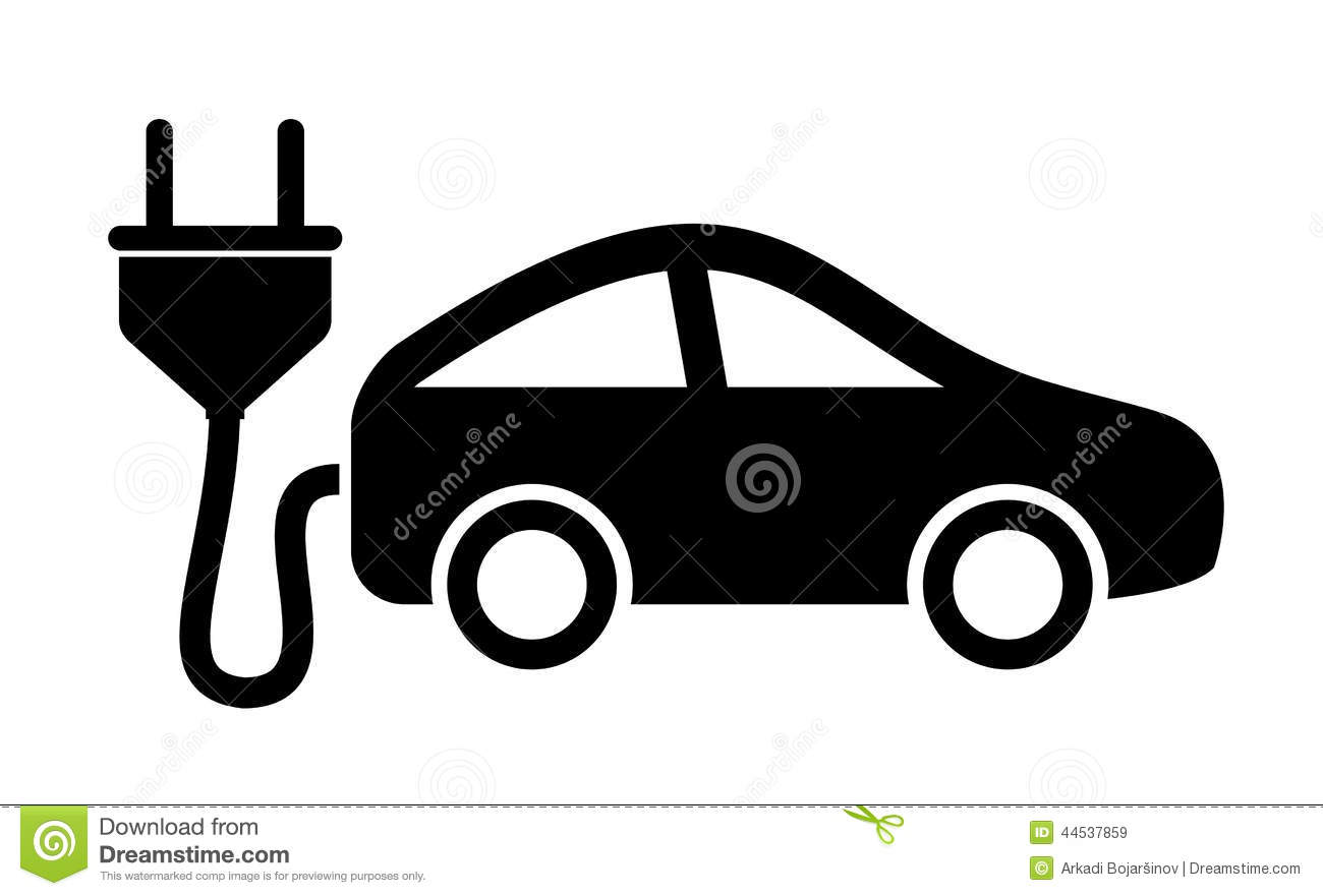 Electric Car Icon Stock Vector Illustration Of