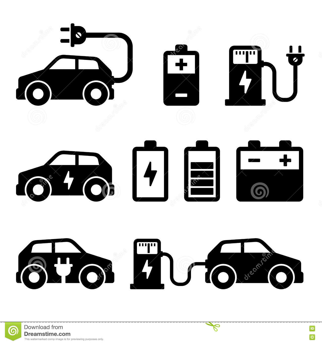 electric car charger battery  vector illustration stock