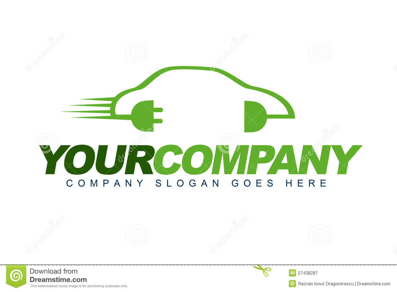 Car Abstract Vector Logo Design Concept Simple Linear Style Icons