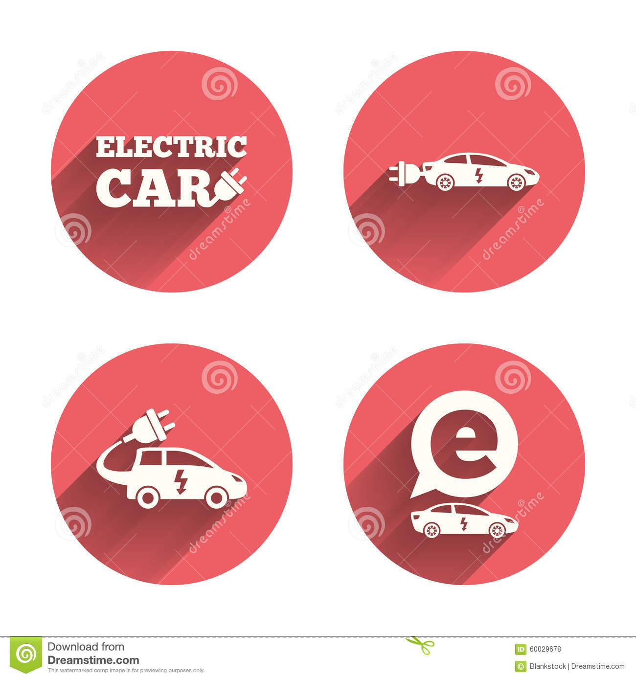 Plug Power Stock Quote: Electric Plug Sign Icon, Power Energy Symbol Set With Long