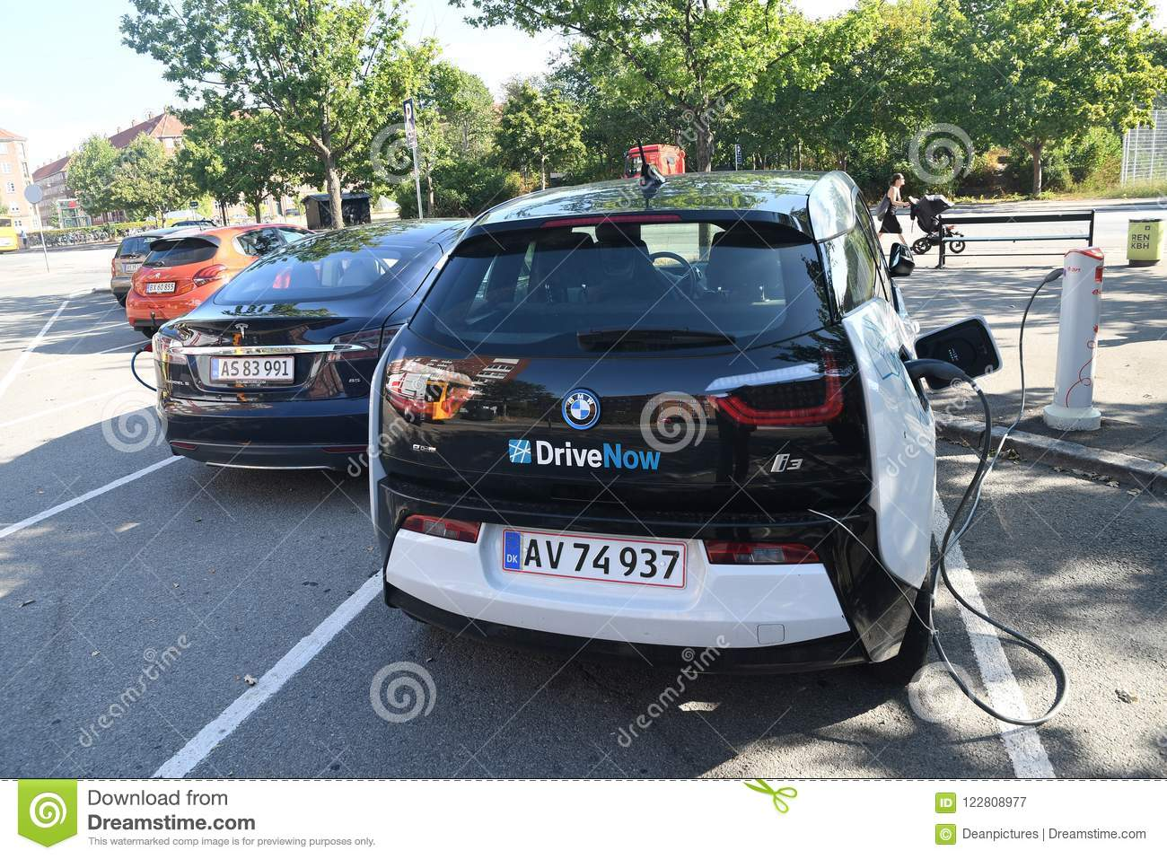 Electric Cars Bmw And Tesla Editorial Photography Image Of Denmark