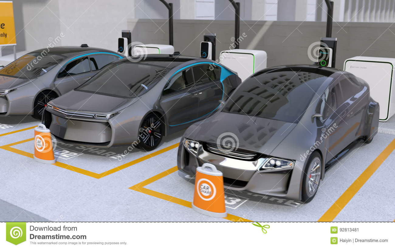 Electric Cars In Car Sharing Parking Lot Stock Video - Video of ... for Electric Car Motor Animation  28cpg