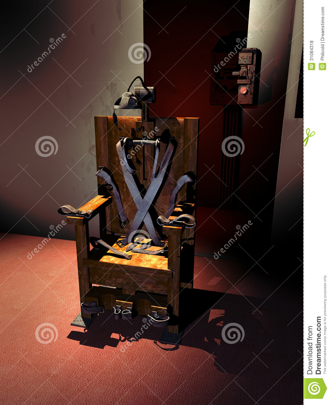 Electric chair stock illustration image of wooden power for Chaise electrique