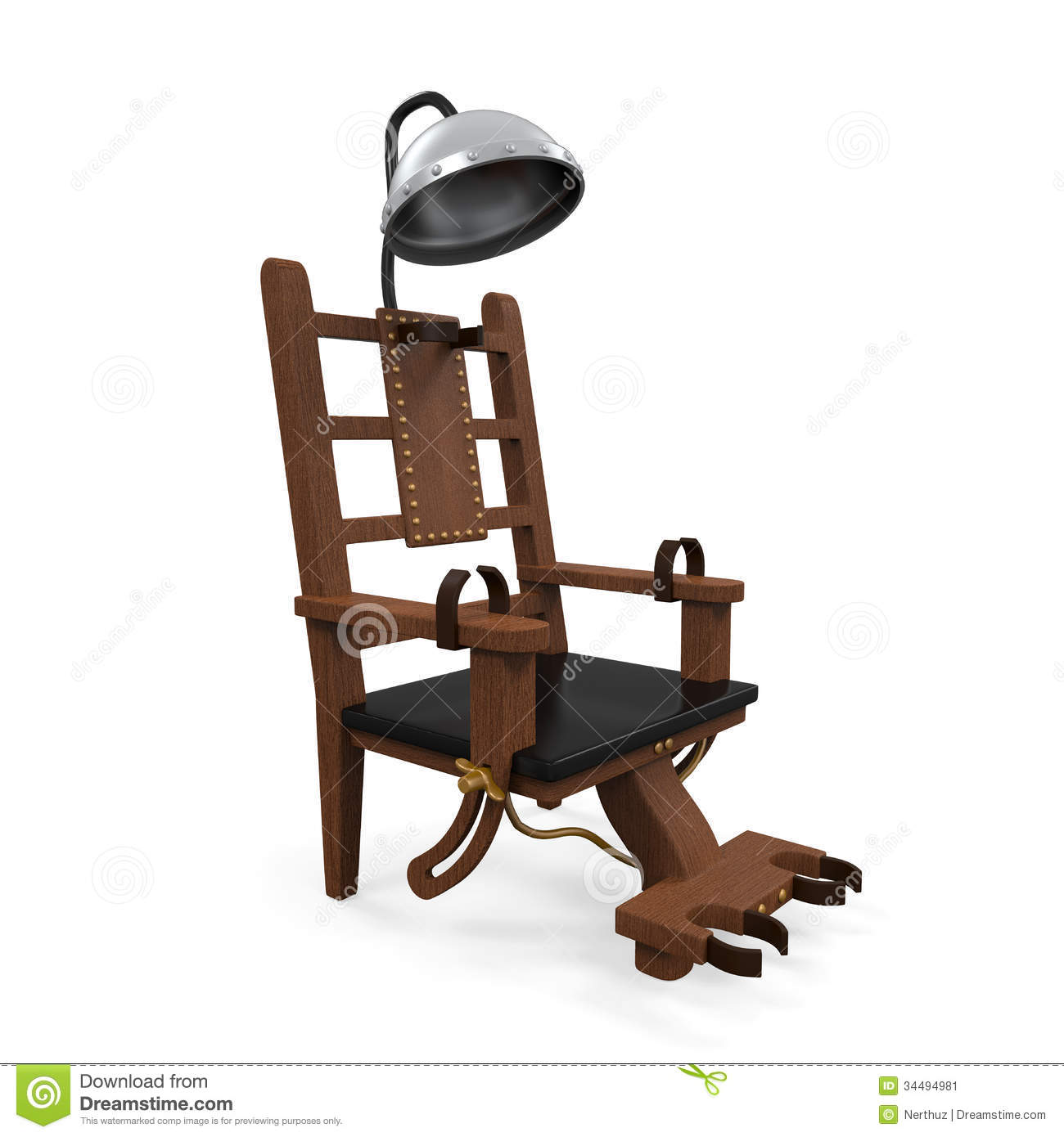 Electric chair isolated stock image image 34494981 for Chaise electrique