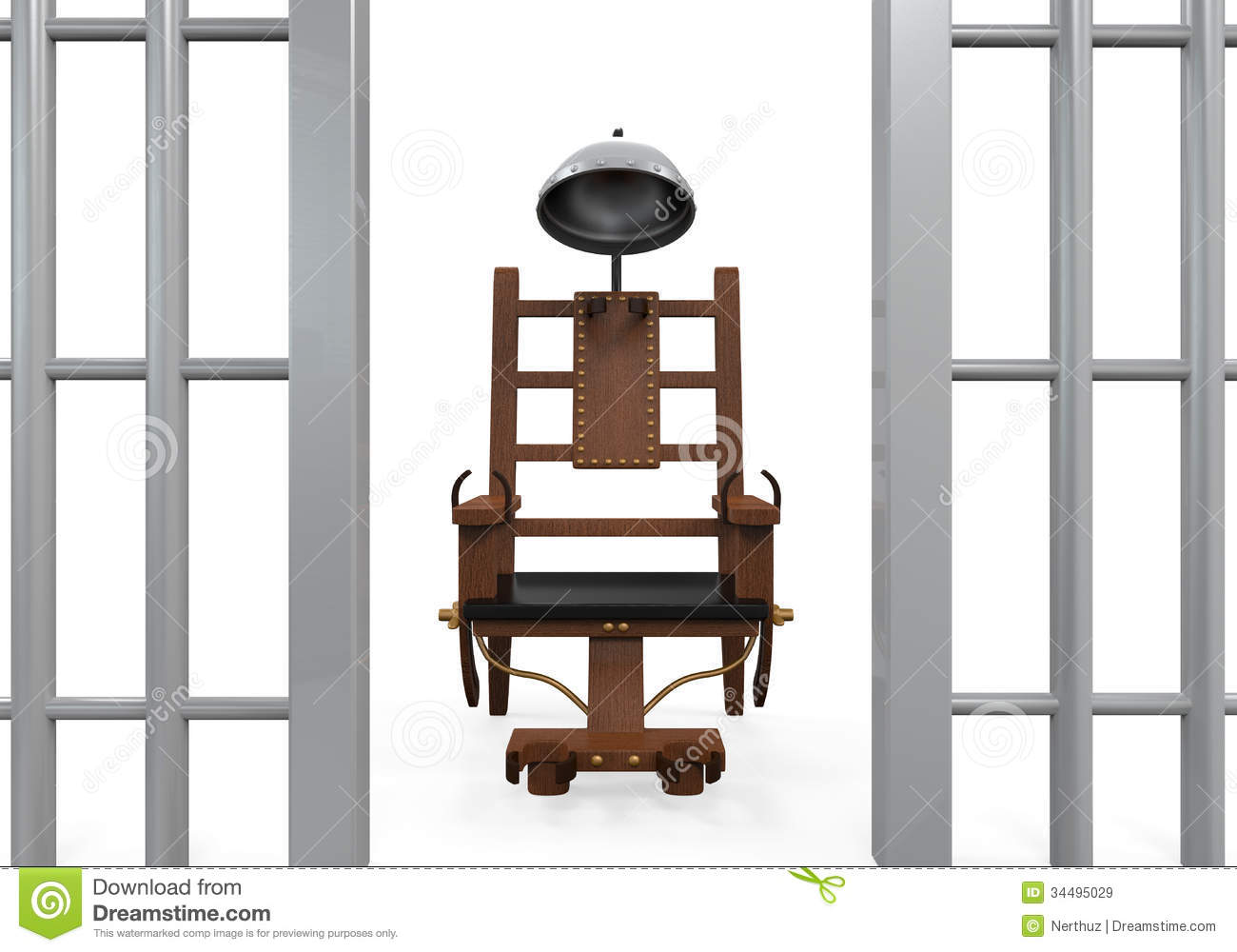Electric chair isolated stock illustration image of chair - Execution en direct chaise electrique ...