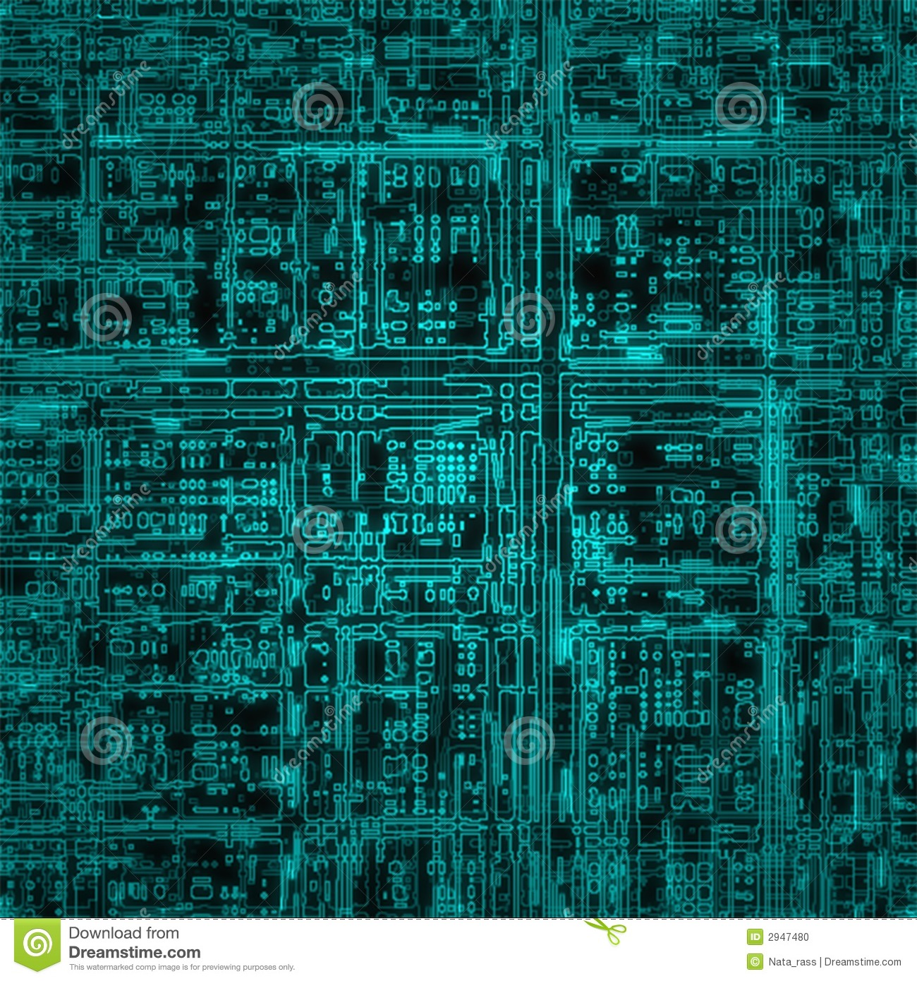 Electric circuit stock illustration. Illustration of current - 2947480